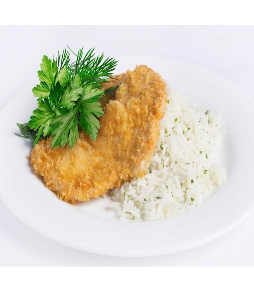 Бризоль из курицы и рис с томатным соусом