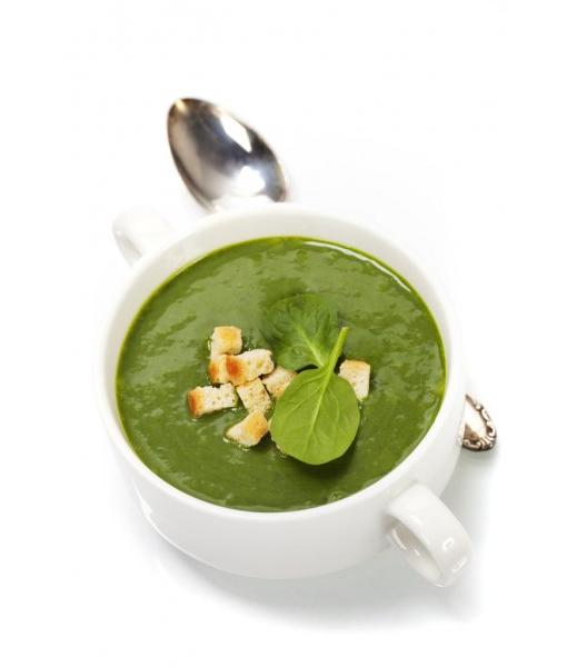 Крем суп со шпинатом и сливками
